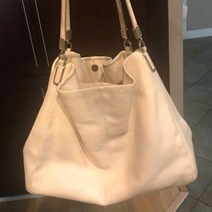 Coach leather cream bag